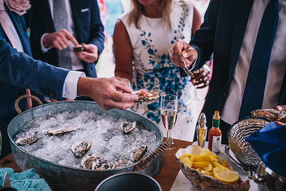 oysters at a wedding
