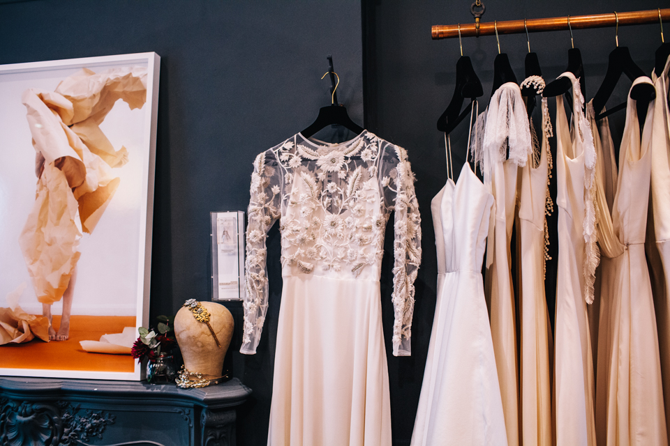 halfpenny london blush wedding dress
