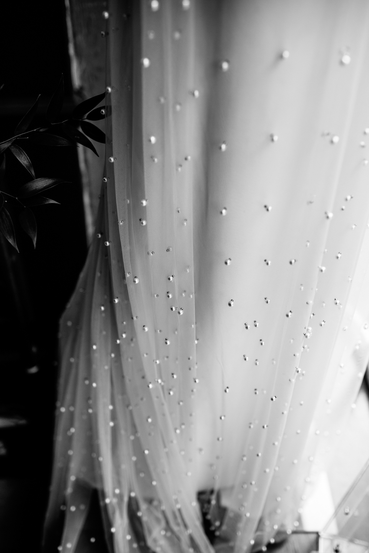 beading details on wedding dress