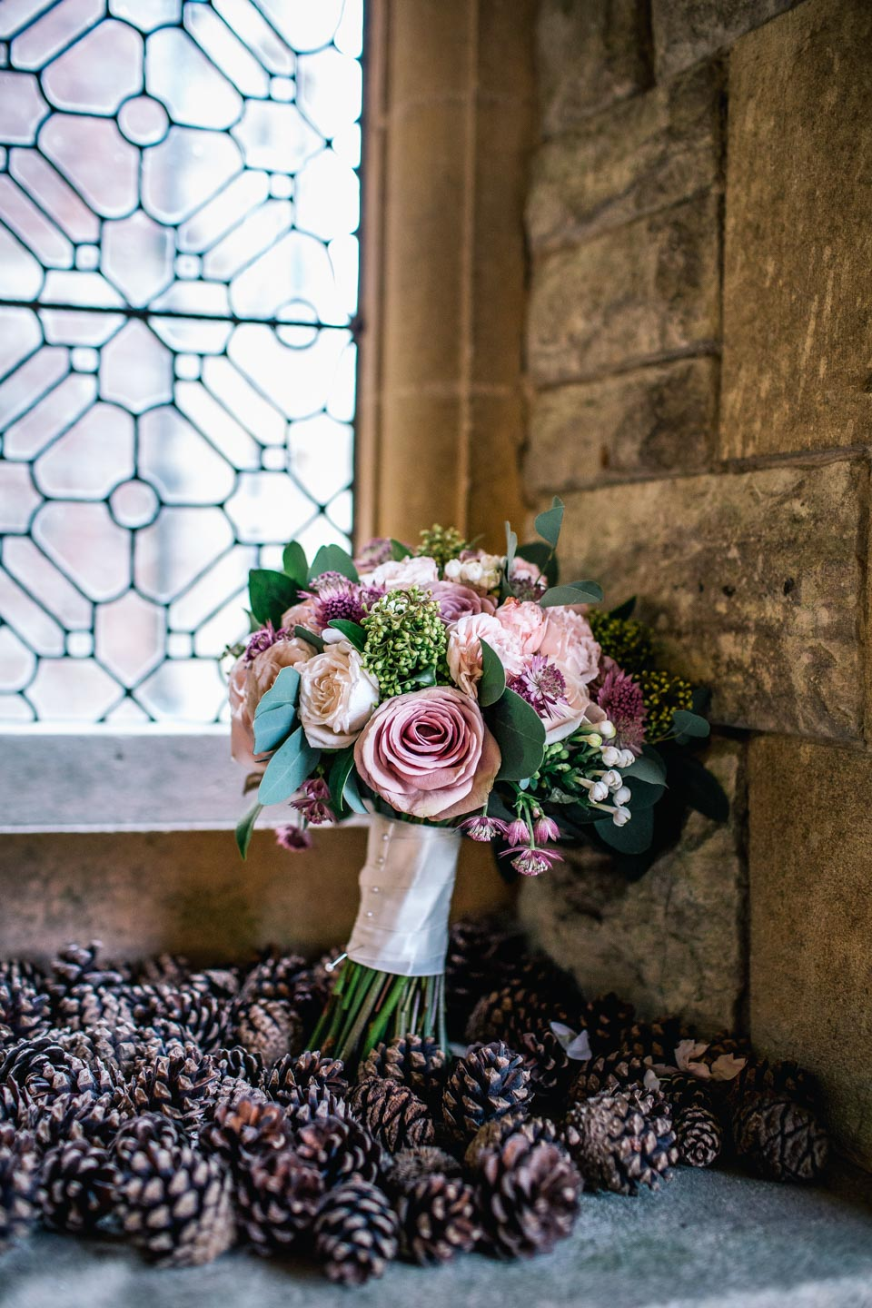 Gorgeous simple wedding bouquet at Rhinefield House
