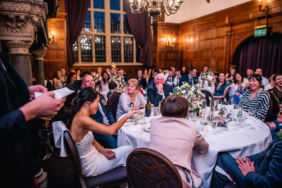 Funny wedding speeches at Rhinefield House
