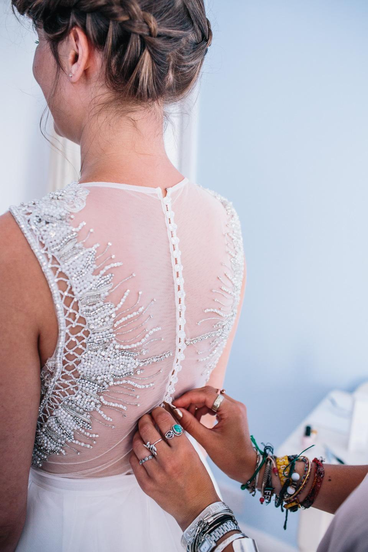 bohemian details on brides dress heart full of tea top tips