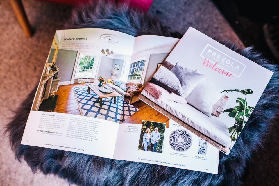 flat lay prezola brochure