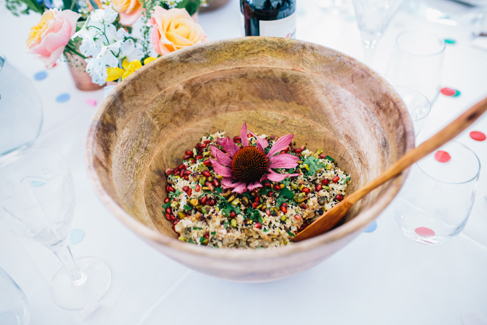 vegan salad at wedding