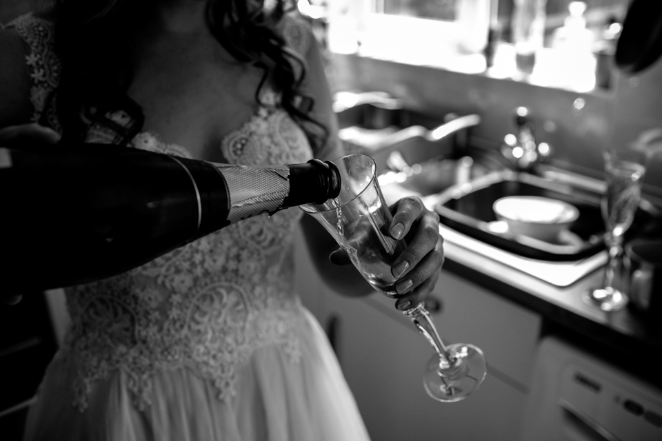 champagne drinking