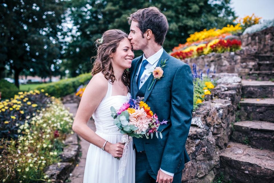 vegan wedding couple