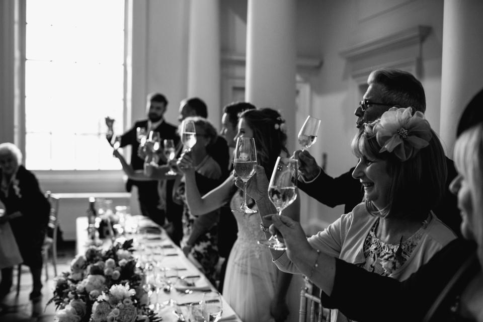 celebration drinks at speeches