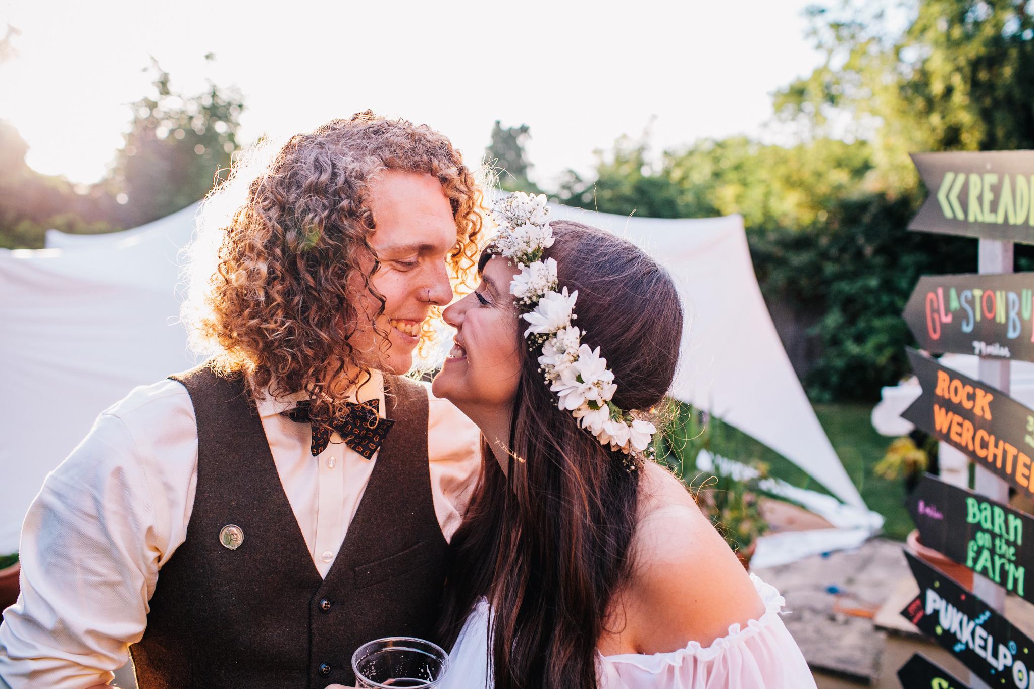 festival wedding at Glastonbury