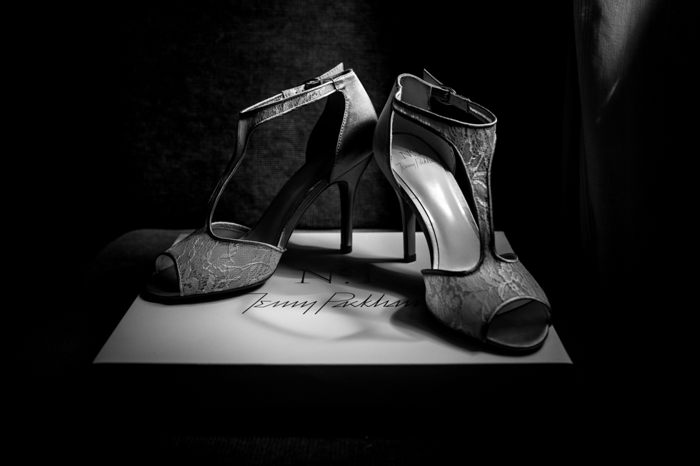 Jenny Packham wedding shoes at the Curradine barns