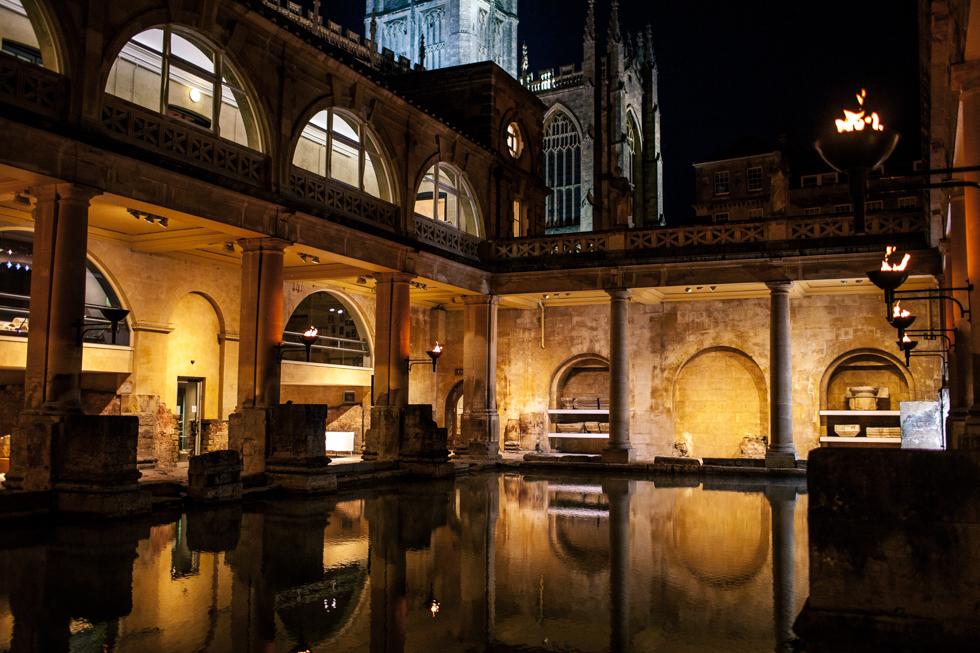 Roman baths wedding venue