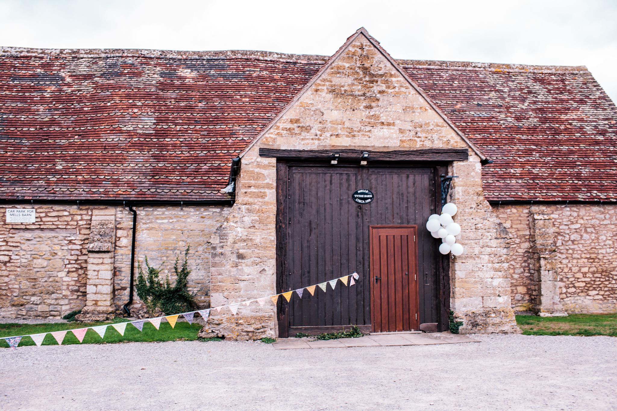 Wedding at Tythe Barn Mells