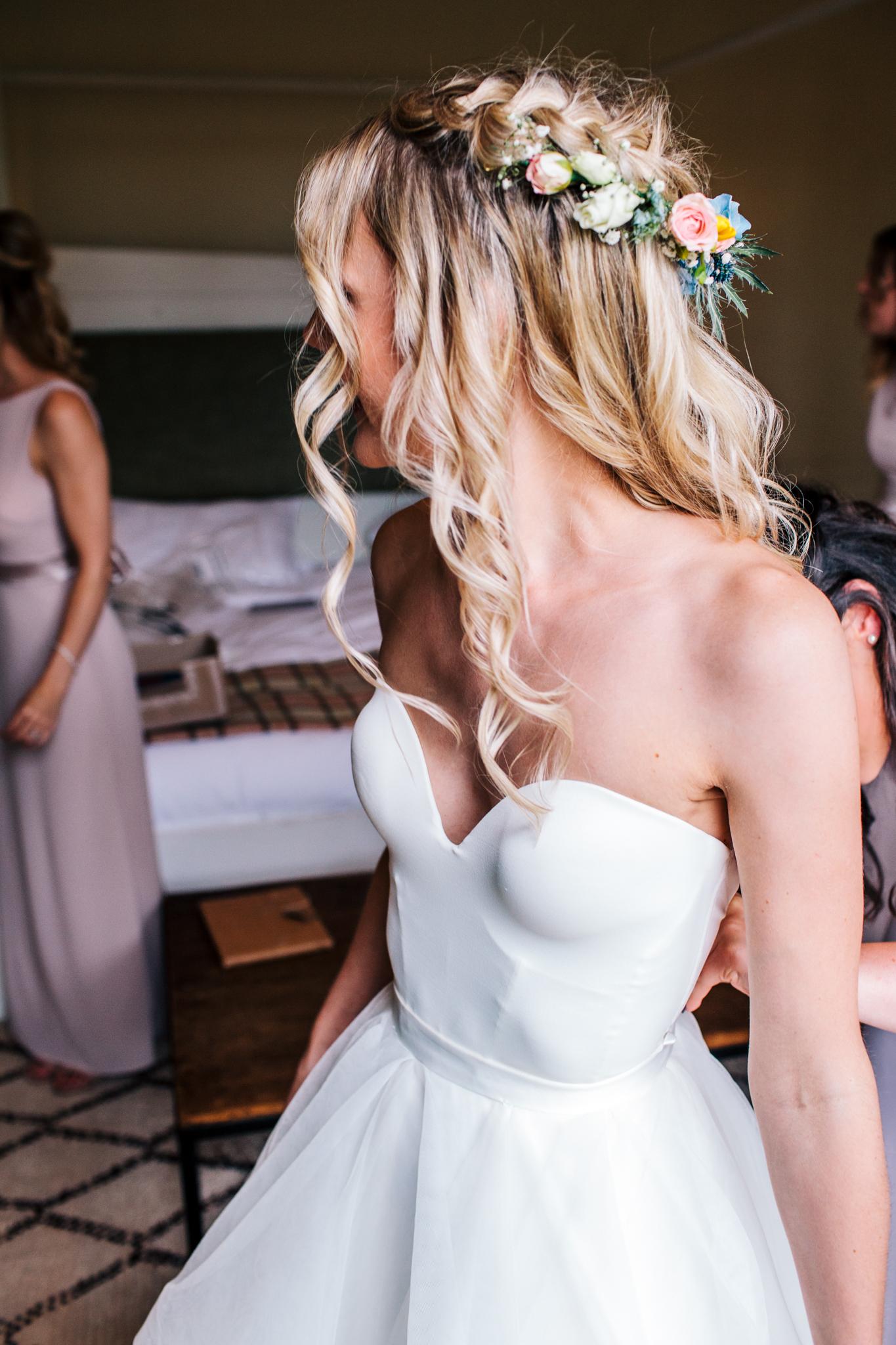 Bride wearing Emma Tindley separates
