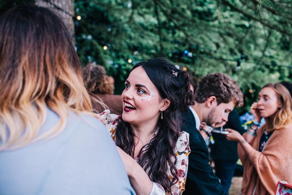 glitter bar at festival outdoor wedding
