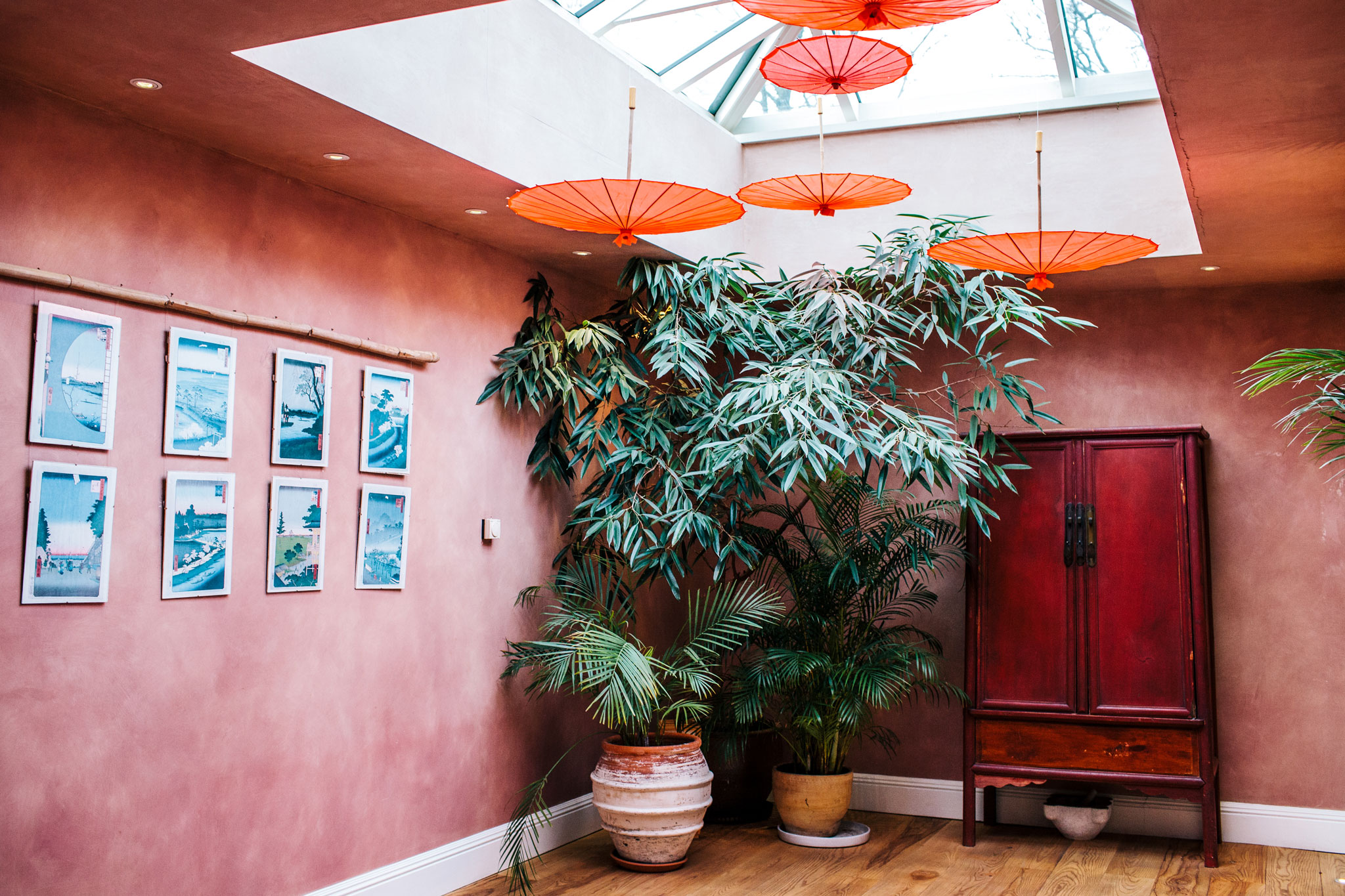 Japanese inspired wedding venue in the cotswolds